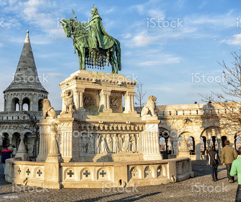 Statue of Stephen I of Hungary in Budapest royalty-free stock photo