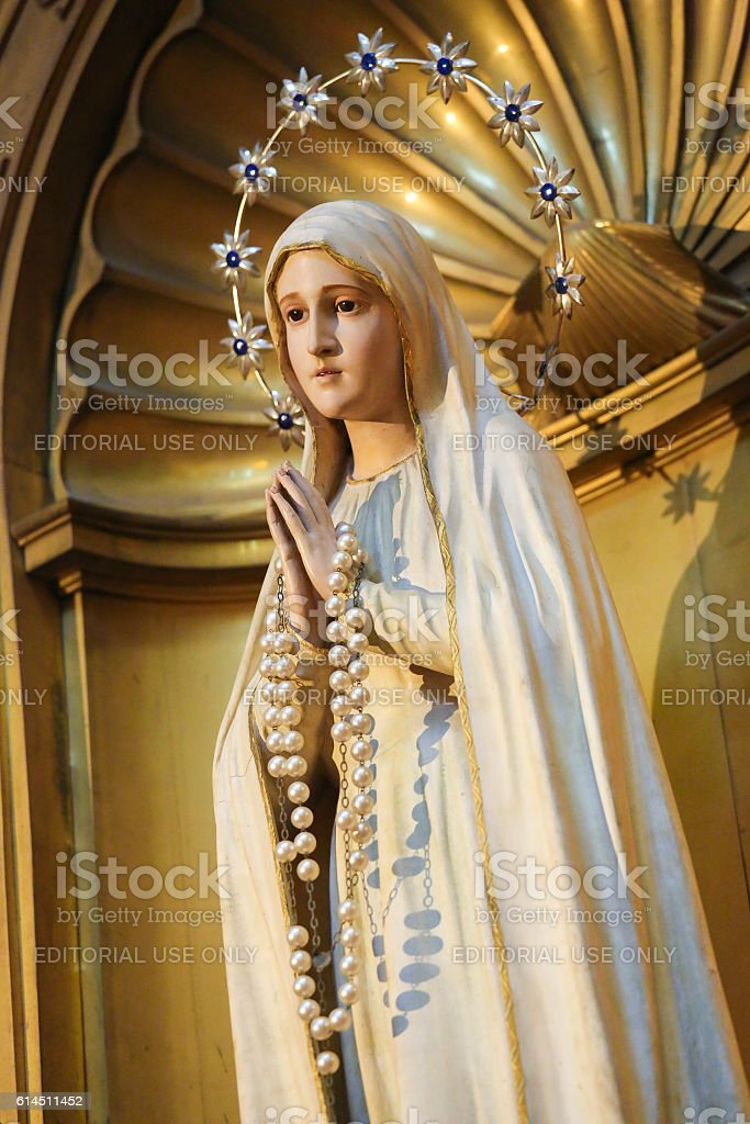 Statue of the Blessed Virgin Mary in Salamanca stock photo