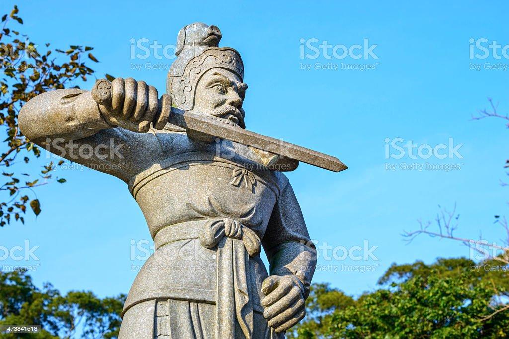 Statue of the General Kumbhira stock photo