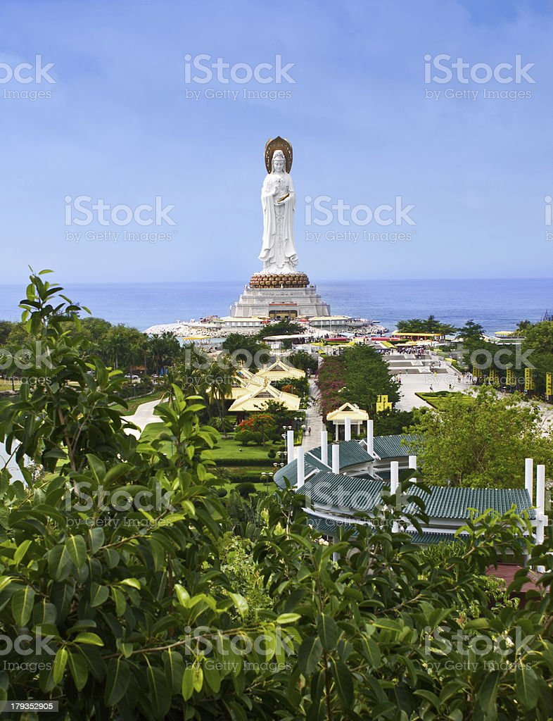 statue of the goddess Guanyin stock photo