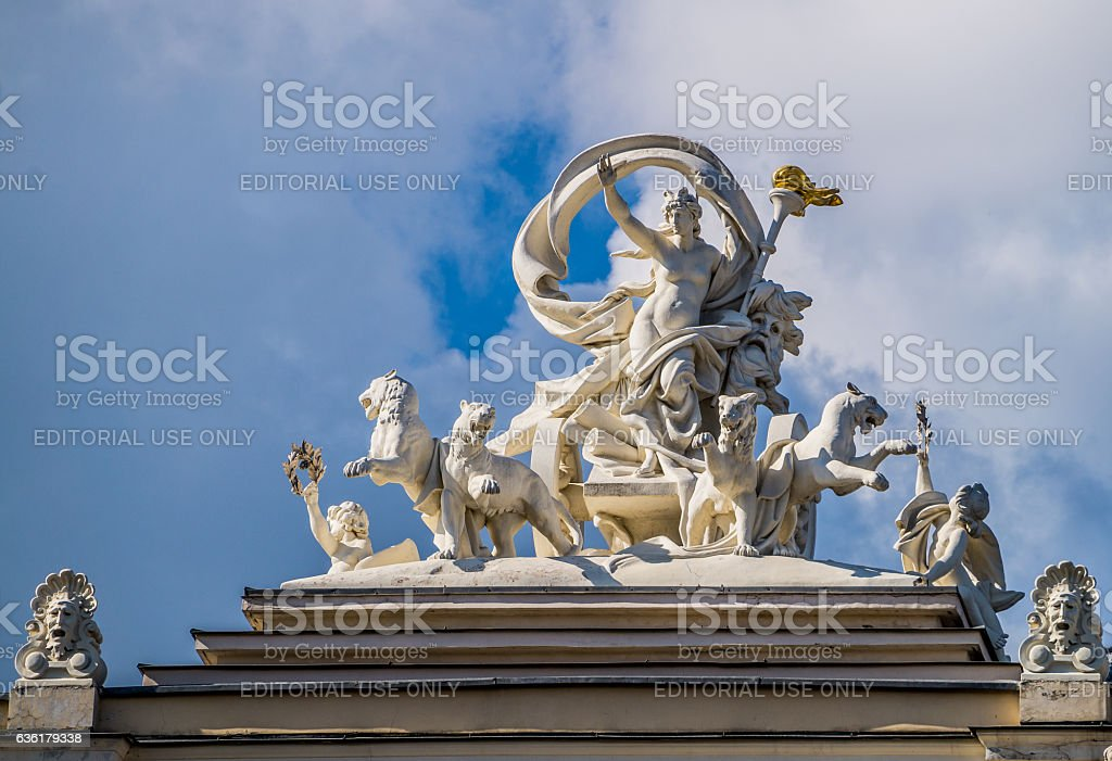 Statue of the Greek goddess stock photo