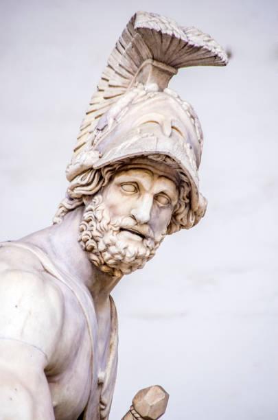 statue of the Italian Florentine Renaissance: Patroclus and Menelaus stock photo