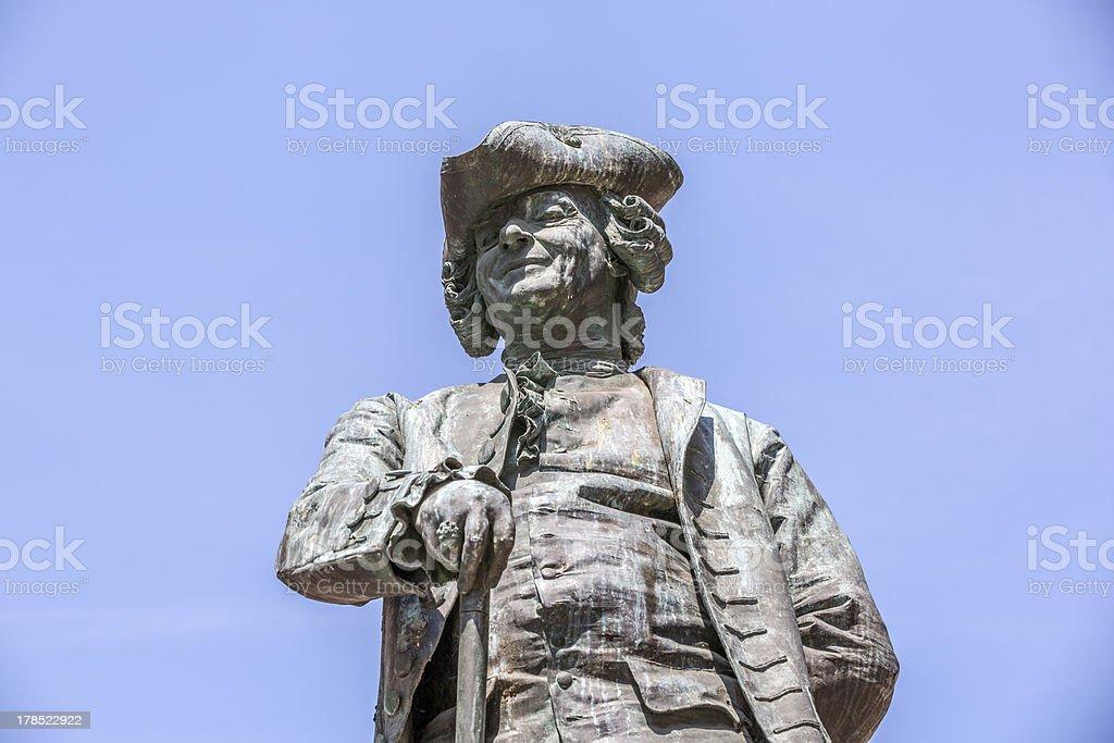 Statue of the Italian playwright Carlo Goldoni, Venice, Italy royalty-free stock photo