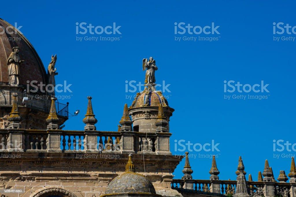 Statue of the Jerez de la Frontera Cathedral stock photo