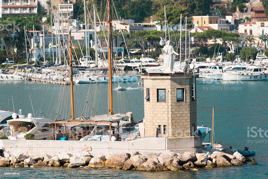 statue of the Madonna in the port of Casamicciola Ischia photo libre de droits
