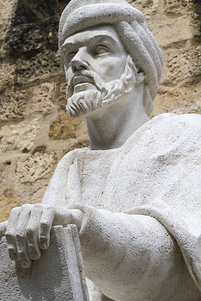 Statue of the philosopher Averroes in Cordoba – Foto