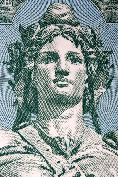 Statue der Republik - Marianne hat ein Porträt – Foto