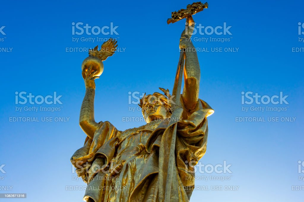 Statue of the Republic stock photo