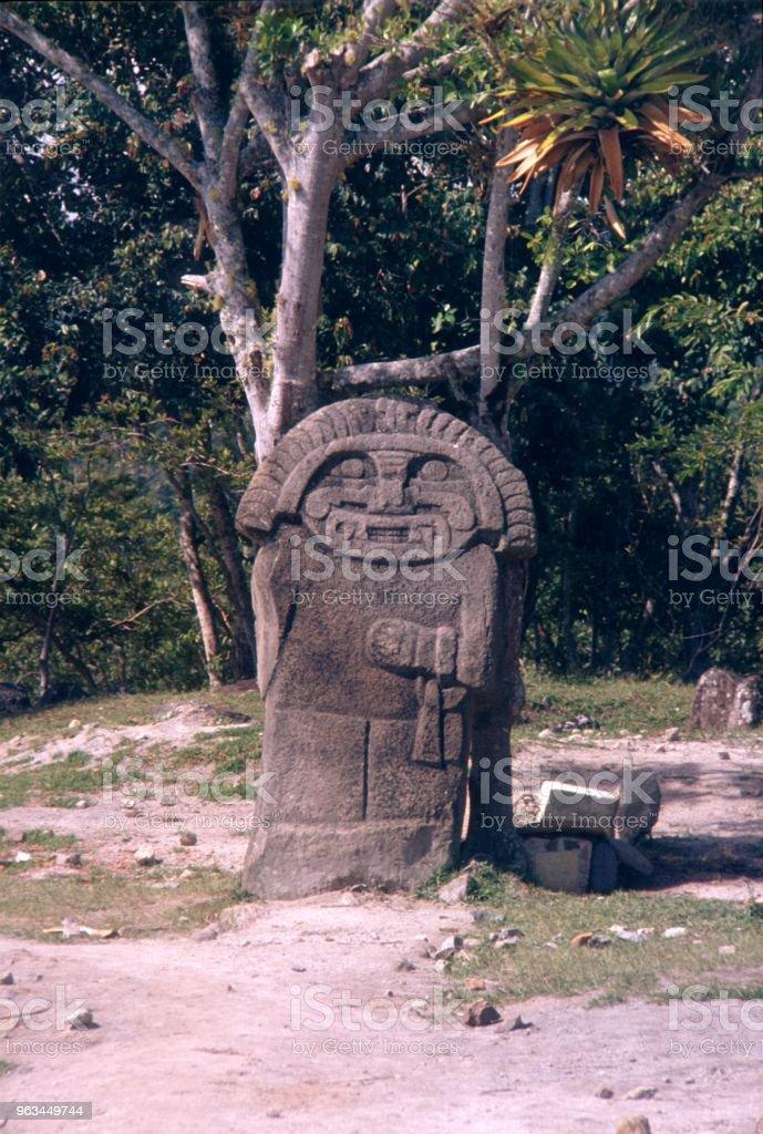 San Agustín kültür, Kolombiya heykeli - Royalty-free 1980-1989 Stok görsel