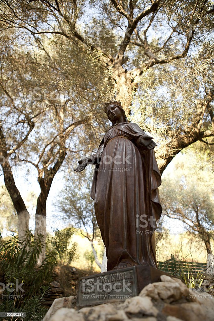 Statue of the Virgin Mary stock photo
