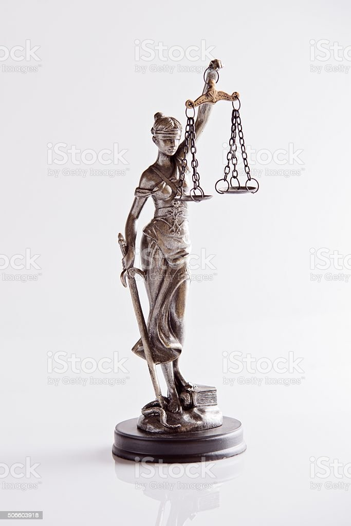 Statue of Themis - goddess of justice stock photo