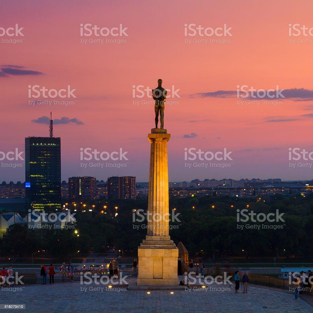 Statue von Victor, Belgrad, Serbien. Lizenzfreies stock-foto