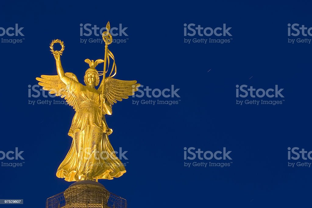 Statue of Victoria in Berlin royalty-free stock photo