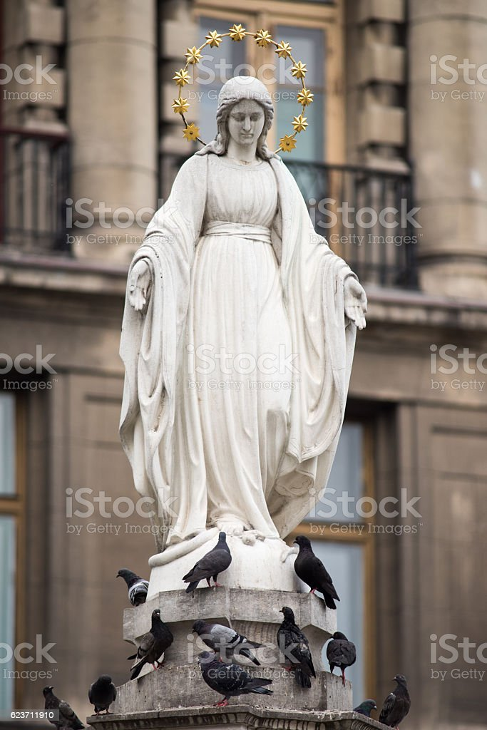 Statue of Virgin Mary stock photo