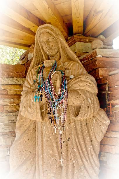 Statue of Virgin Mary stock photo