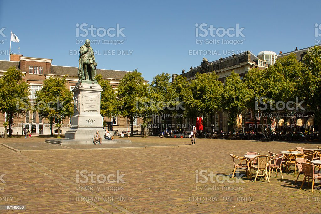 Statue of Willem the Silent, The Hague stock photo