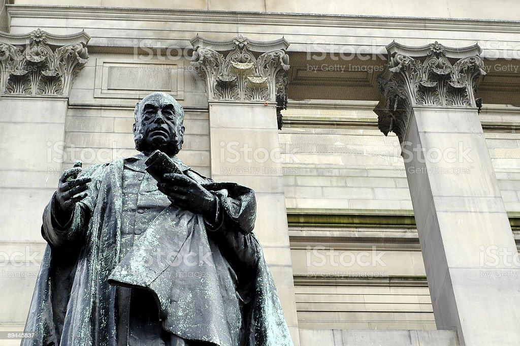 Statue of William Rathbone royalty-free stock photo