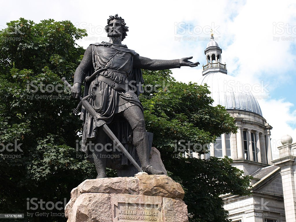 Statue of William Wallace, Aberdeen stock photo
