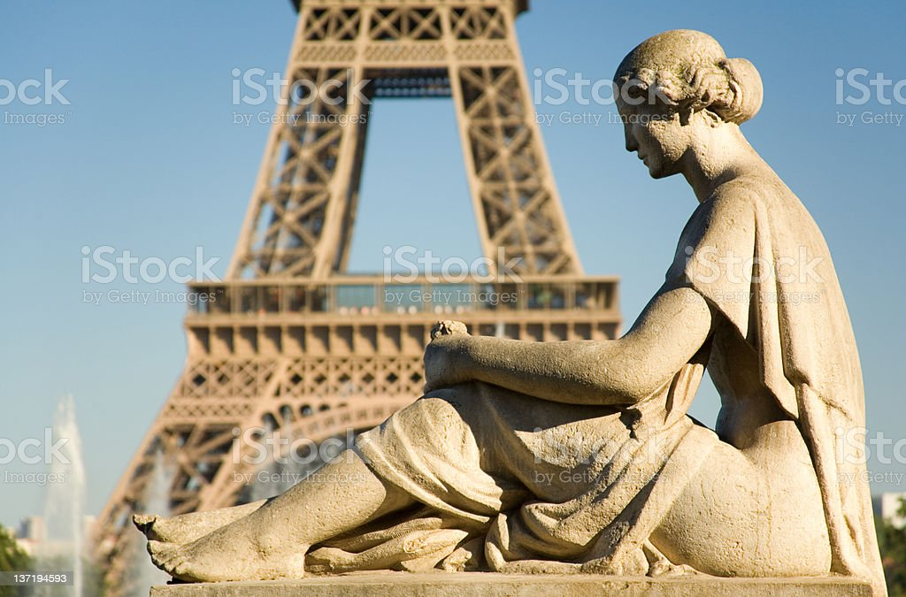 Statue of woman at Trocadero royalty-free stock photo