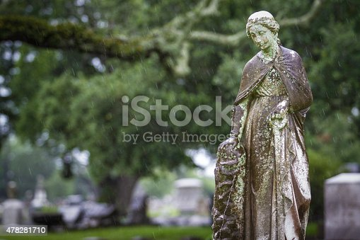 Statue of Woman at Magnolia Cemetery in Mobile, Alabama.