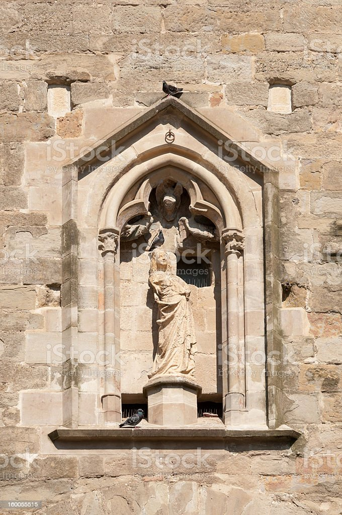Statue of Woman, La Cité, Carcassonne stock photo