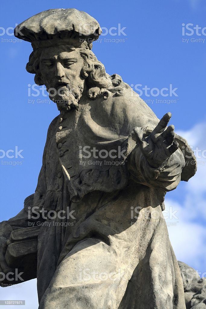 Statue on Charles bridge royalty-free stock photo