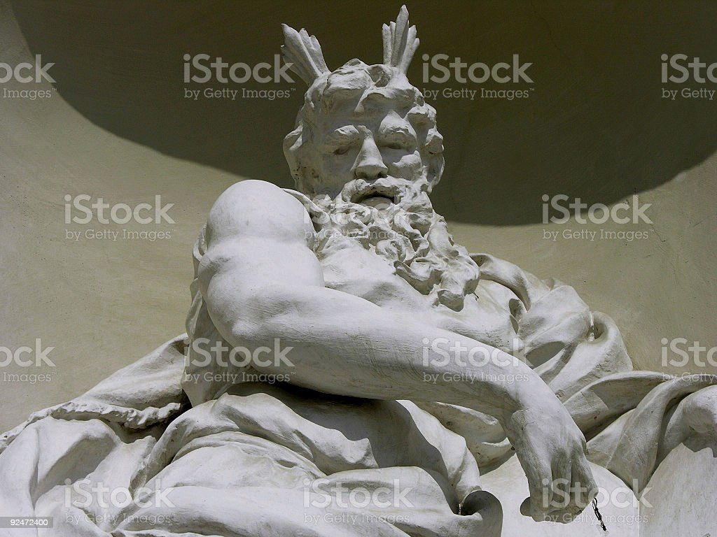 Statue outside cathedral royalty-free stock photo