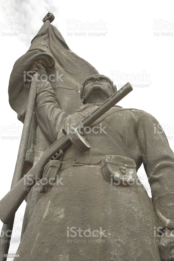 Statue Park Soldier. royalty-free stock photo
