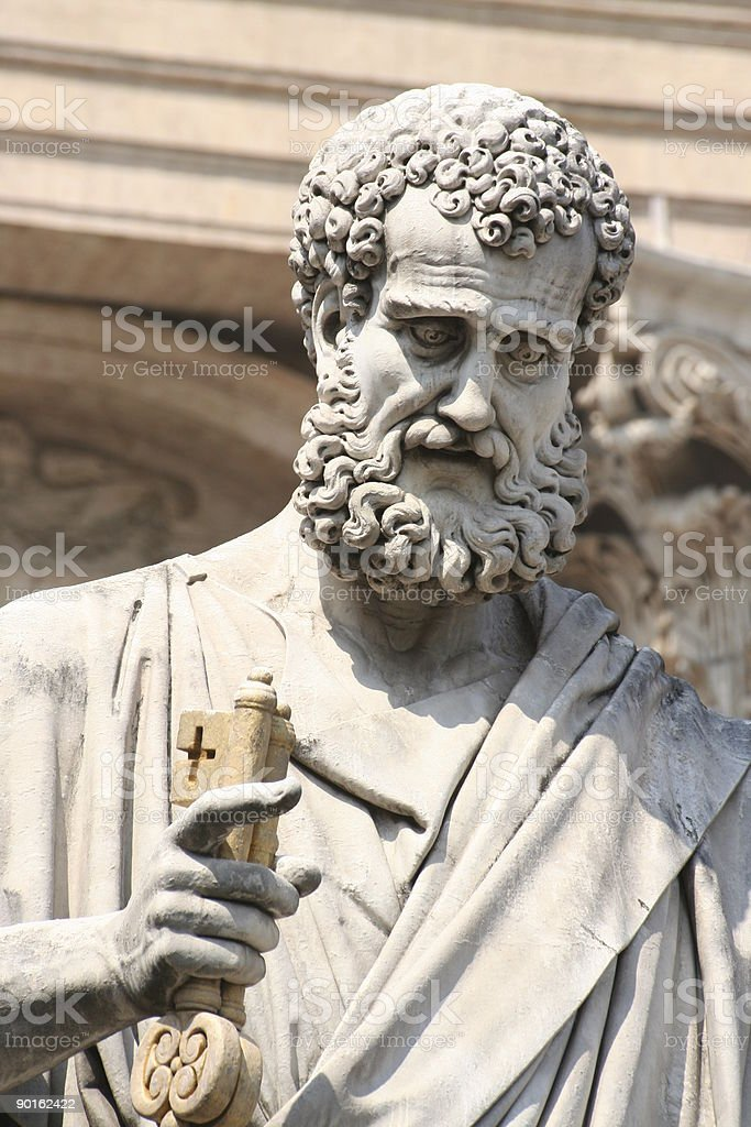 Statue St Peters square Vatican city royalty-free stock photo