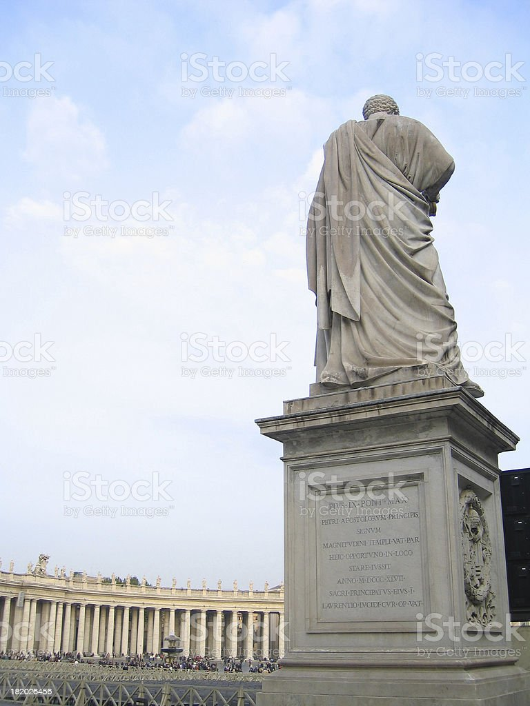 Statue Stands royalty-free stock photo
