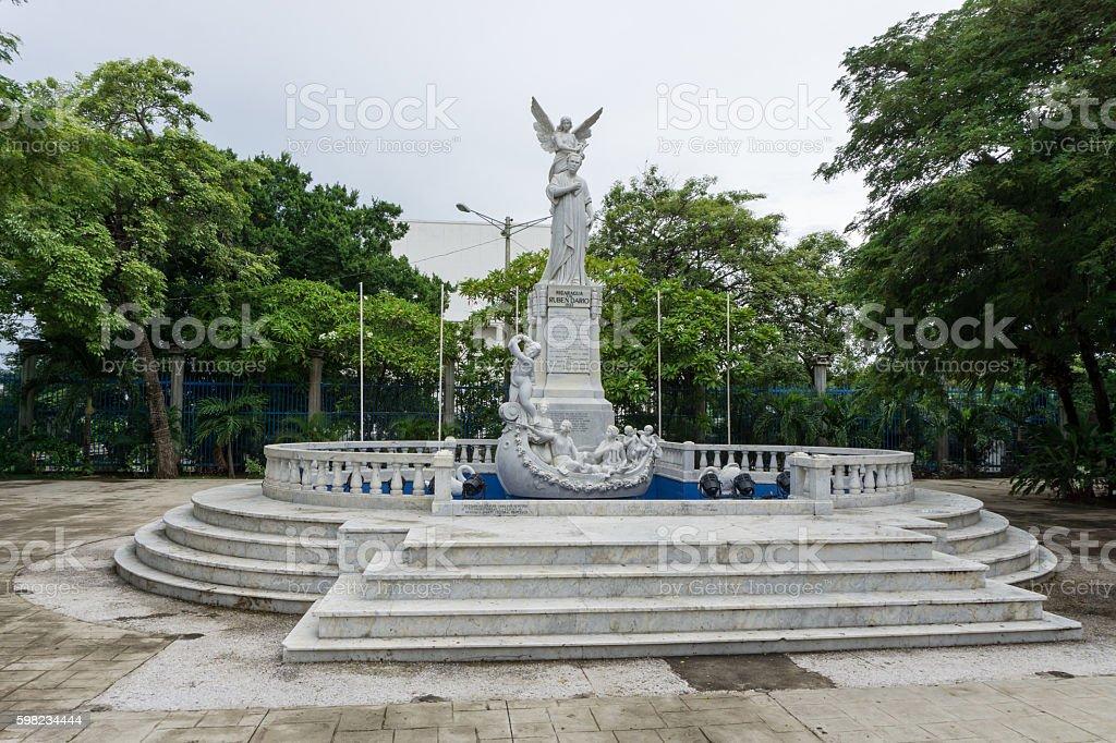 statue to Ruben Dario from Managua, Nicaragua foto royalty-free