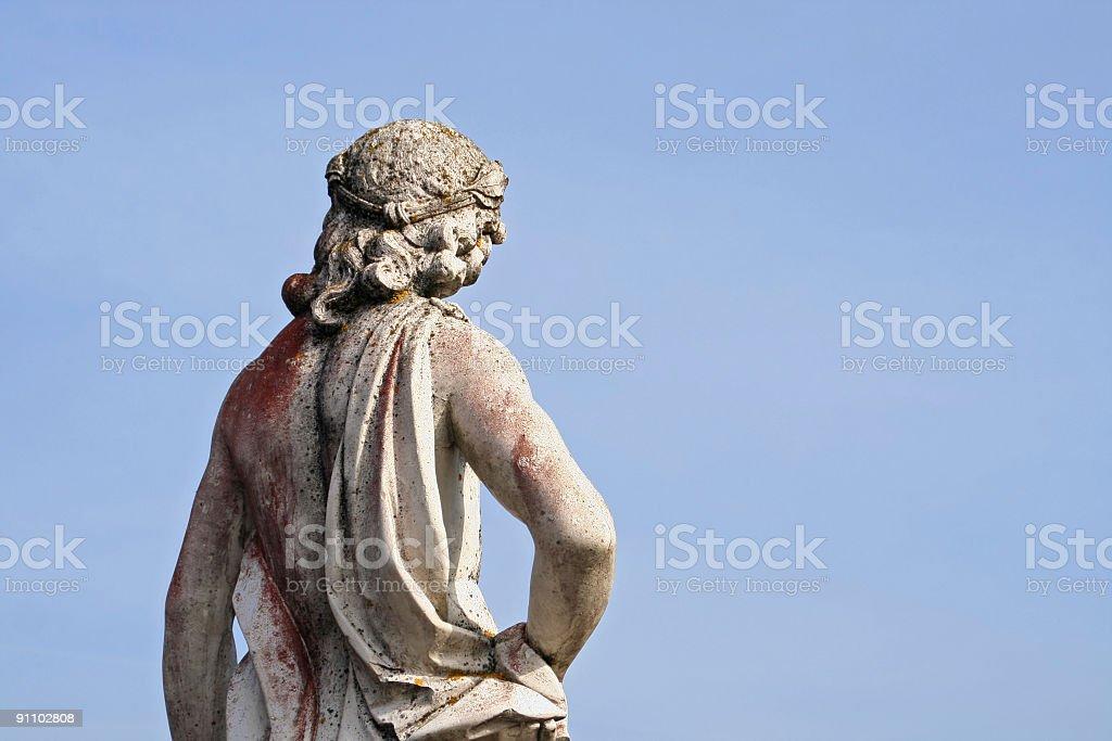 Statue worshipping the sun stock photo