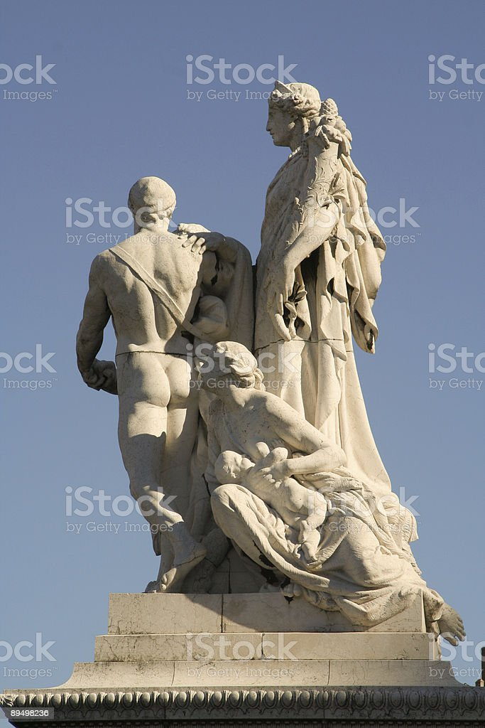Statues at monument royalty free stockfoto