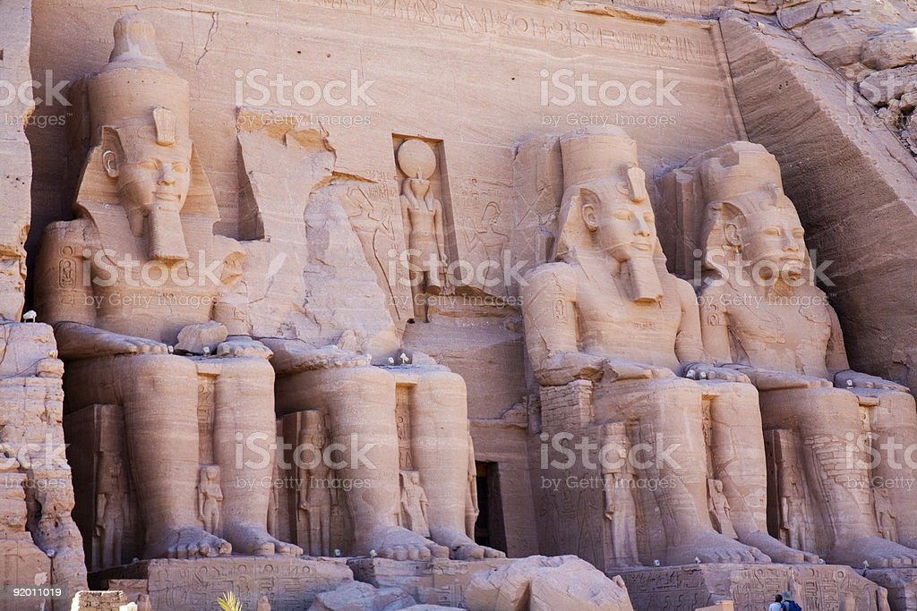 Statues at Temple of Ramses II royalty-free stock photo