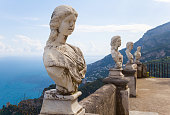 Statues at villa Cimbrone in Ravello, Italy.