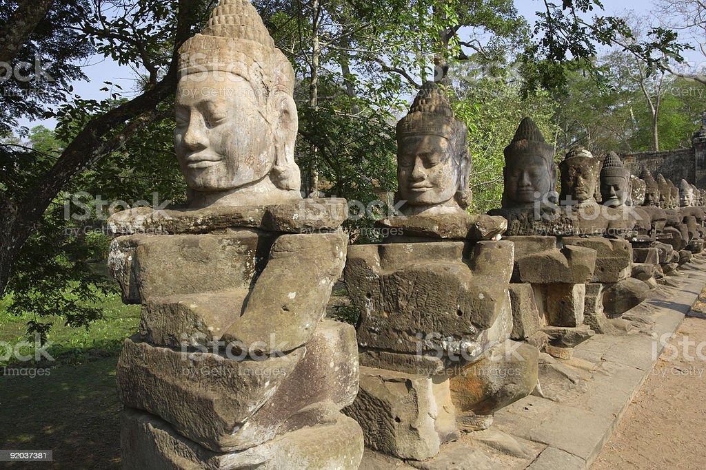 Statues in Cambodia stock photo