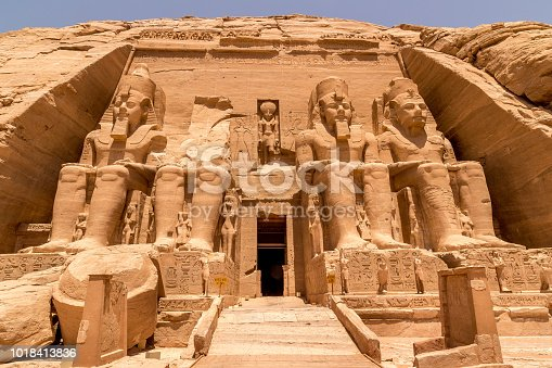 istock Statues in front of Abu Simbel temple in Aswan Egypt 1018413836
