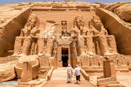 istock Statues in front of Abu Simbel temple in Aswan Egypt 1018413968