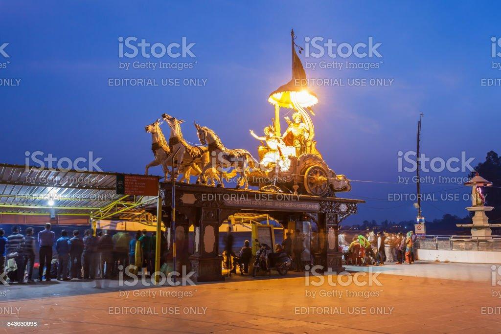 Statues in Rishikesh stock photo