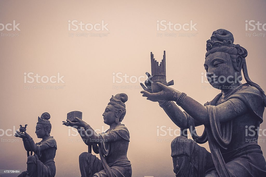 Giant Buddha-Statuen in der Nähe des Hong Kong – Foto