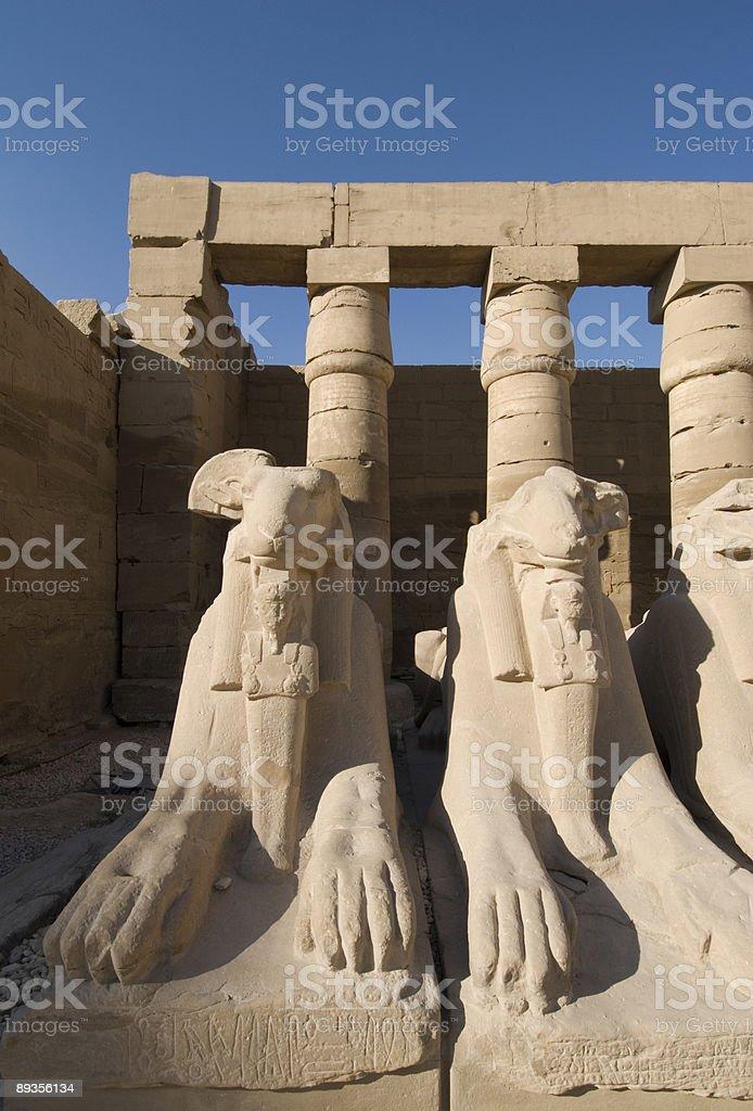 Statues of ancient egypt royaltyfri bildbanksbilder
