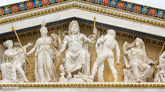 Statues Of Ancient Greek Gods Athens Greece Stock Photo