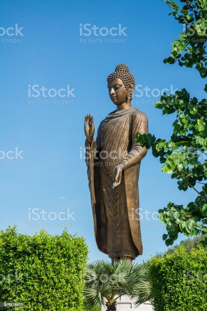 在 Wat Thipsukhontharam,泰國北碧府的佛像 免版稅 stock photo