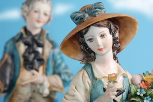 statues of porcelain capodimonte