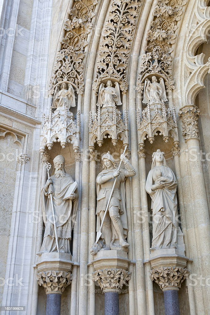 Statues of saints in Zagreb royalty-free stock photo