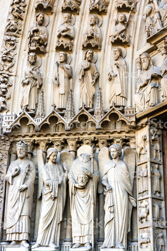 Statues Of St Denis And Other Saints On The Walls Surrounding The ...