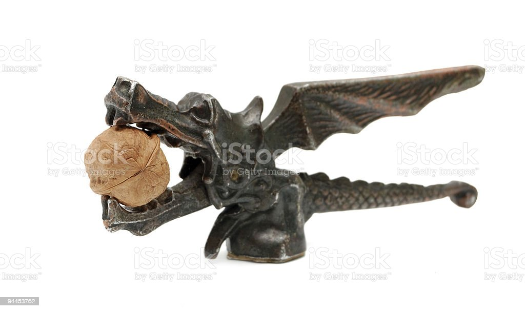 statuette of dragon royalty-free stock photo