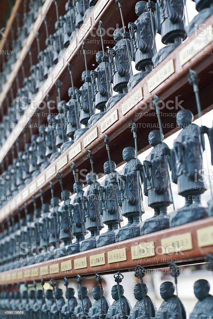 Statuettes of Kobo Daishi royalty-free stock photo