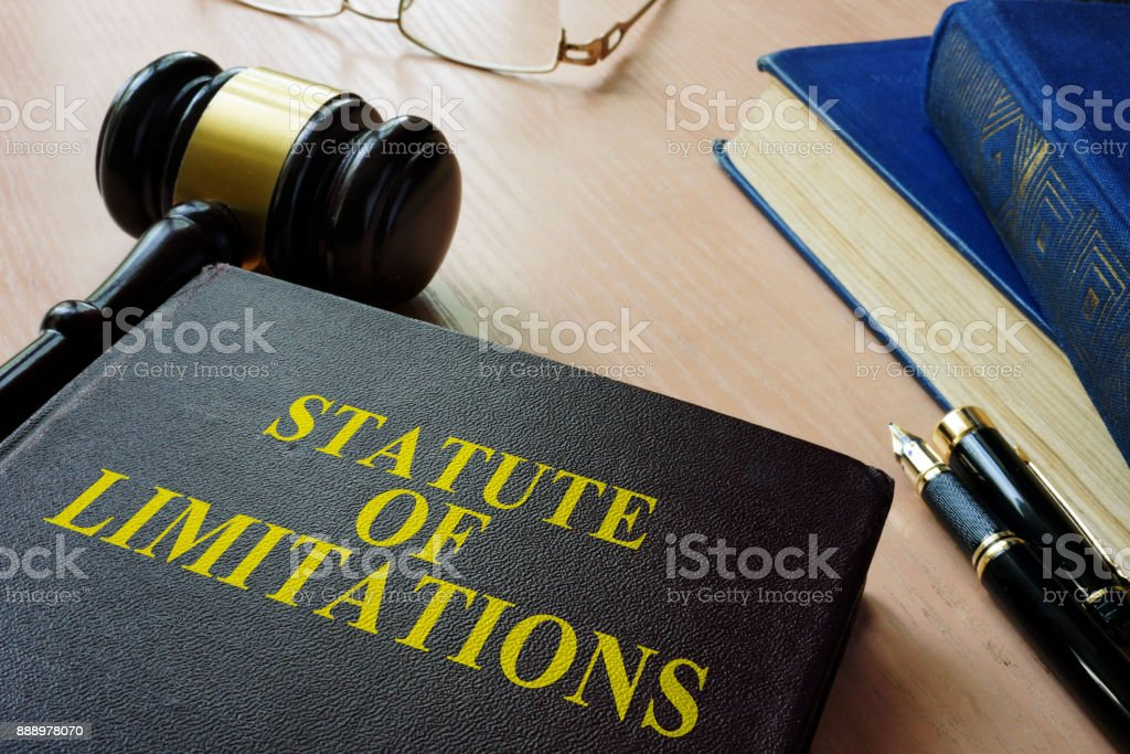 Statute of limitations (SOL) on a court desk. stock photo