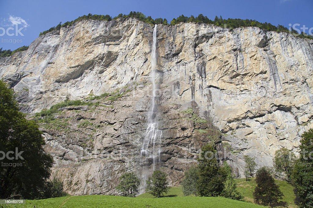 Staubbach falls royalty-free stock photo
